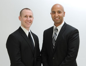 On the right:  Ankur R. Gosalia MD. On the left: David M. DeChellis DO